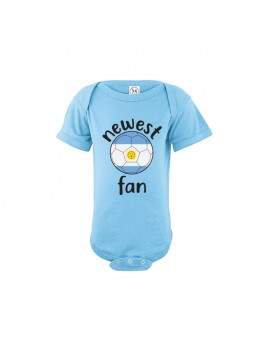 Argentina Newest Fan Baby Soccer Bodysuit