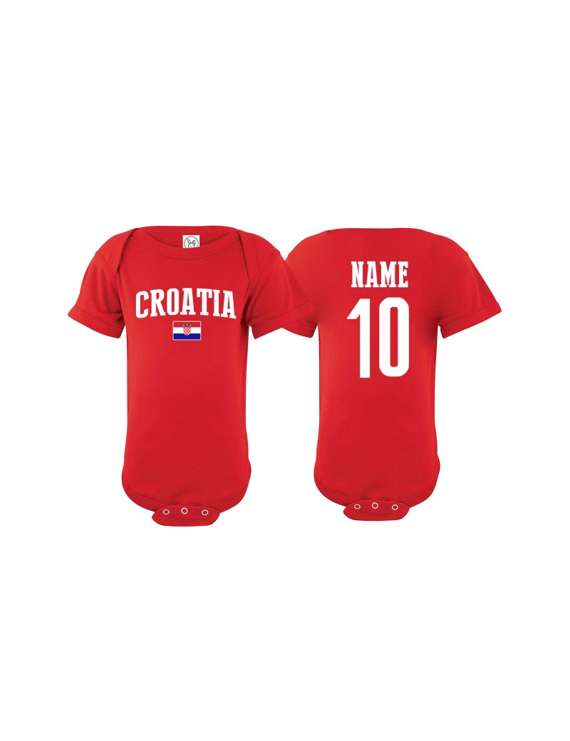 Croatia flag Country Baby Soccer Bodysuit jersey Clothes & Apparel