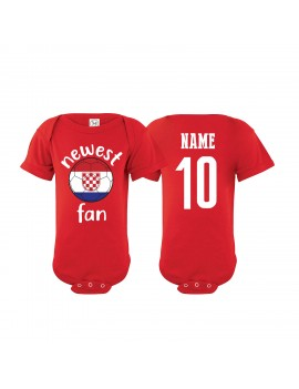 Croatia Newest Fan Baby Soccer Bodysuit