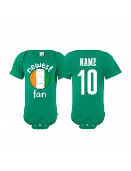 Ireland Newest Fan Baby Soccer Bodysuit