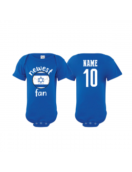 Israel Newest Fan Baby Soccer Bodysuit