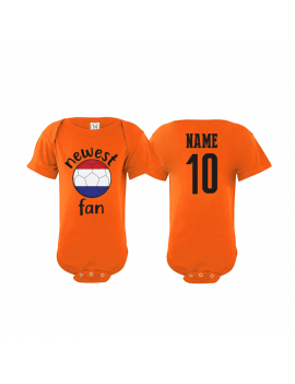 Netherlands Newest Fan Baby Soccer Bodysuit