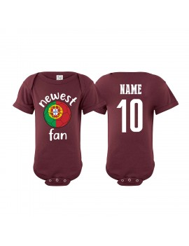 Portugal Newest Fan Baby Soccer Bodysuit