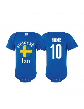 Sweden Newest Fan Baby Soccer Bodysuit