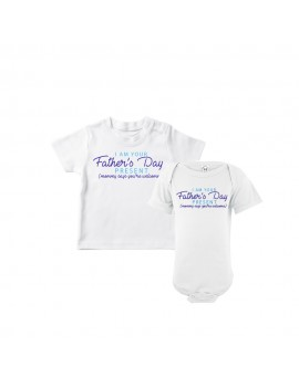 Father's Day Bodysuits Baby Bodysuits I'm Your Father's Day Gift Mom Says You're Welcome Baby Bodysuit & Kids T-Shirts