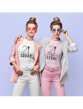 21 and Legal custom age t-shirt for women