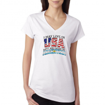 T-shirts V-Neck Women's Tee 