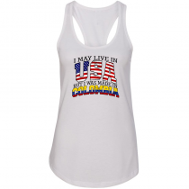 Women Woman Tank Top T-shirt. I May Live in USA But I Was Made in Colombia.