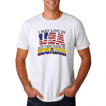 Men's T-shirt Tee. Country Pride I May Live in USA But I Was Made In Ecuador.