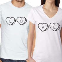 LOVE  White and Black