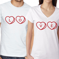 LOVE  White and Red