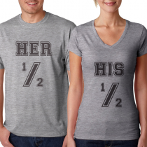 Her 1/2 - His 1/s
