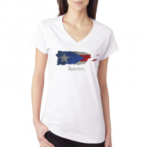 Women T-shirt  V- neck